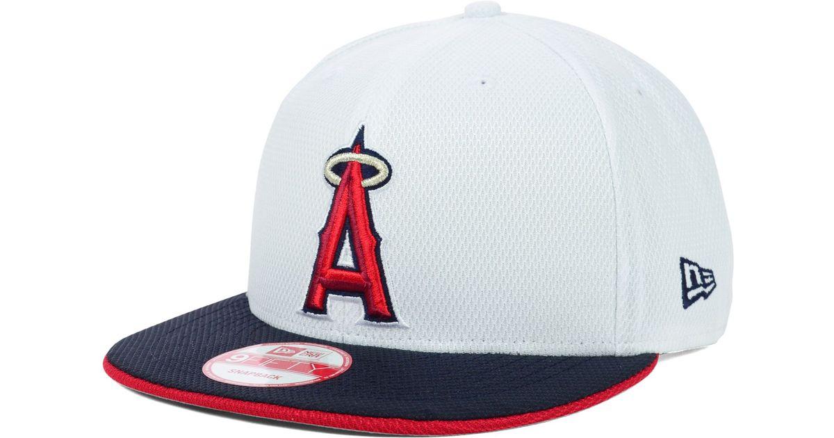 best service 31831 63bf2 KTZ Los Angeles Angels Of Anaheim Mlb White Diamond Era 9fifty Snapback Cap  in White for Men - Lyst