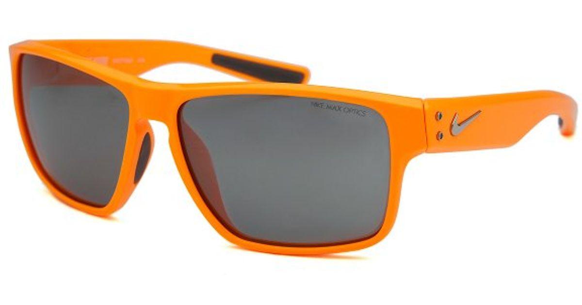 59cd3fd22a ... Lyst - Nike Men s Mavrk Square Neon Orange Sunglasses in Orange for Men  ...