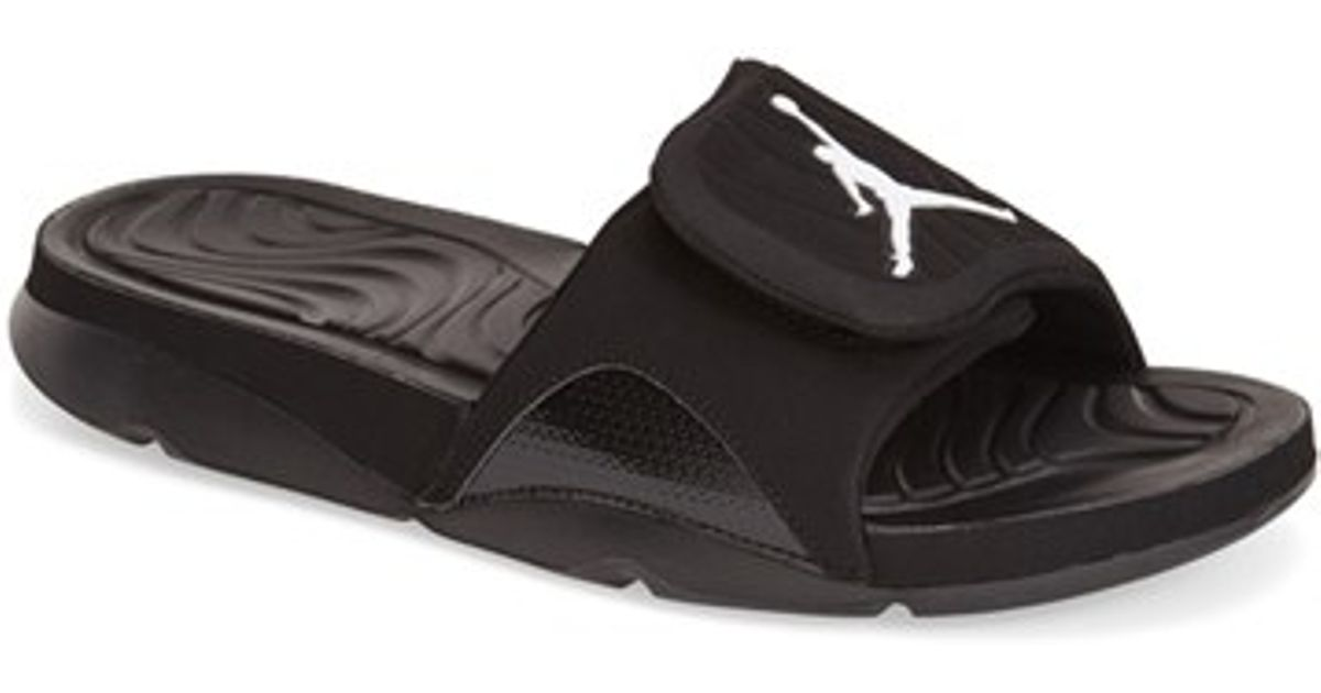 6a212bede Lyst - Nike  jordan Hydro 4  Slide Sandal in Black for Men