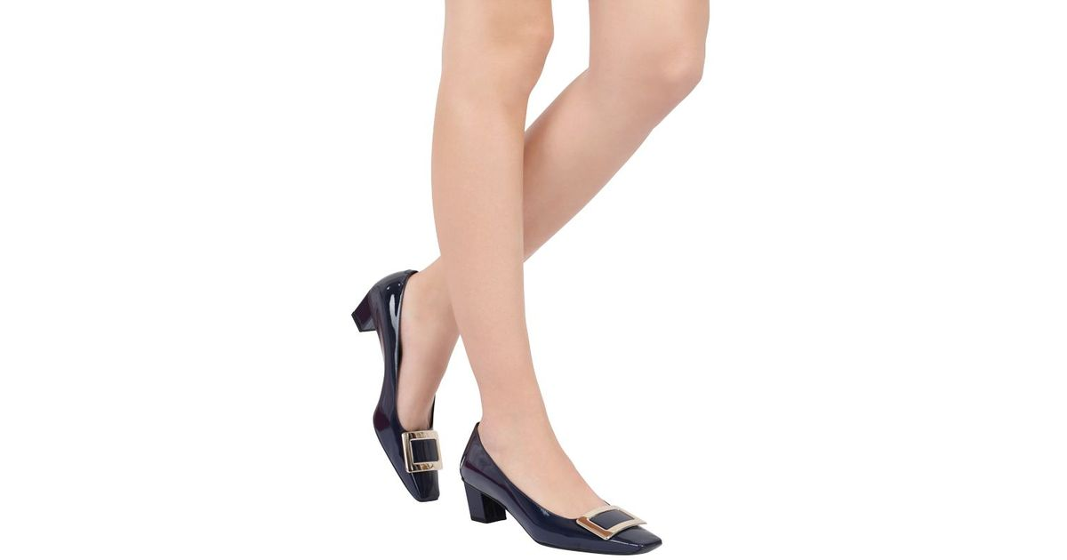 b7112e7e7 Lyst - Roger Vivier 45Mm Belle Vivier Patent Leather Pumps in Blue
