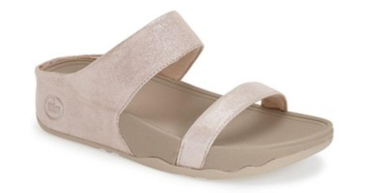 Fitflop Lulu Shimmer Suede Slide Sandal xj4VQK