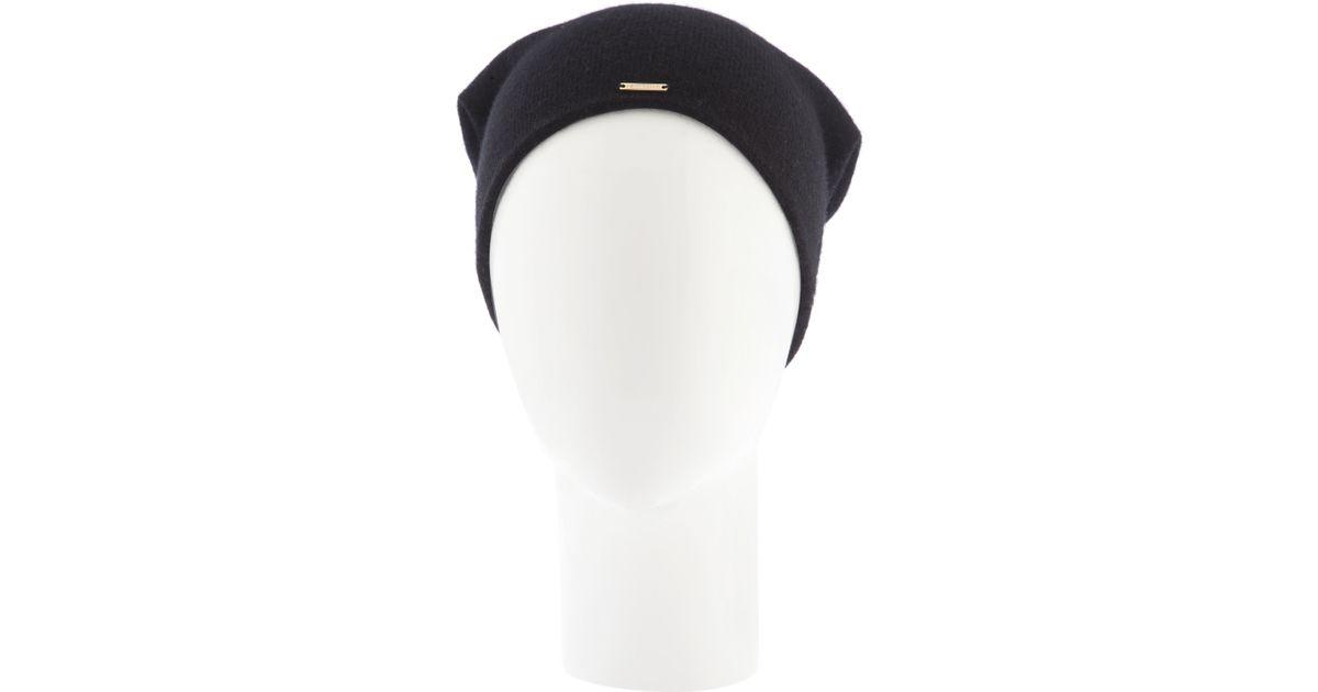 Lyst - Henri Bendel Cashmere Hat in Black e061ff0790d