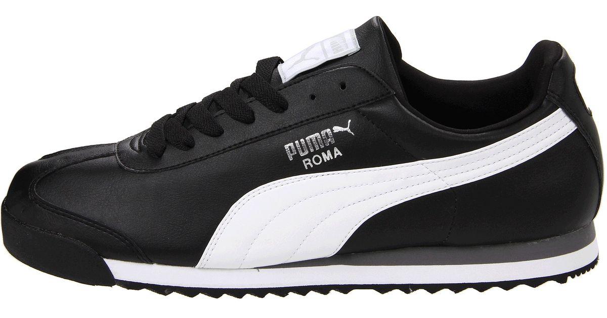 Puma Roma Basic In Black For Men Black White Puma Silver