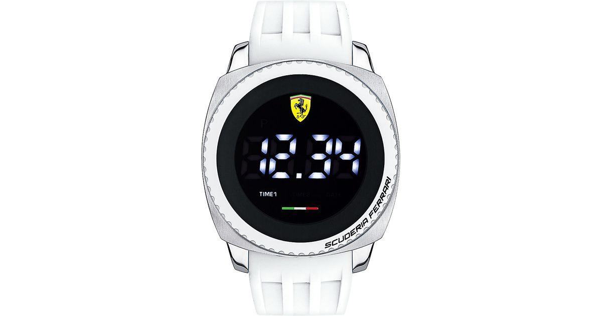 men scuderia for product silicone redrev strap watch black accessories s in normal ferrari mens lyst