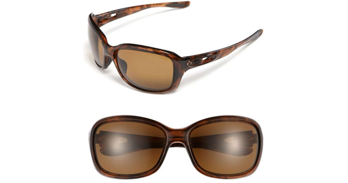 a63c628f90 Lyst - Oakley  urgency  51mm Polarized Sunglasses in Brown