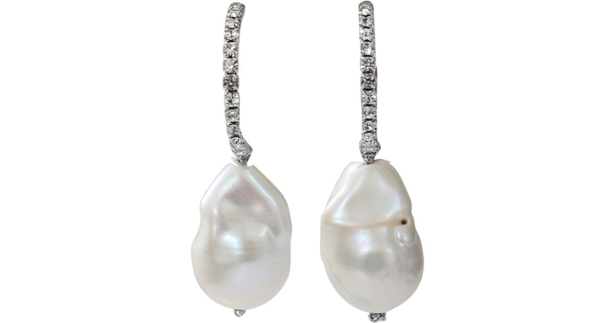carey pearls baroque pearl stud products drops heidi sold grey separately