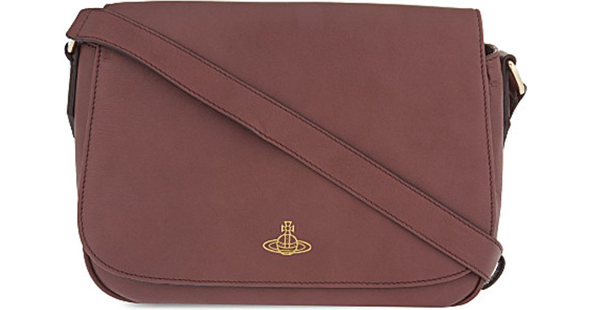bc4179fc36e Vivienne Westwood Spencer Leather Cross-body Bag in Red - Lyst