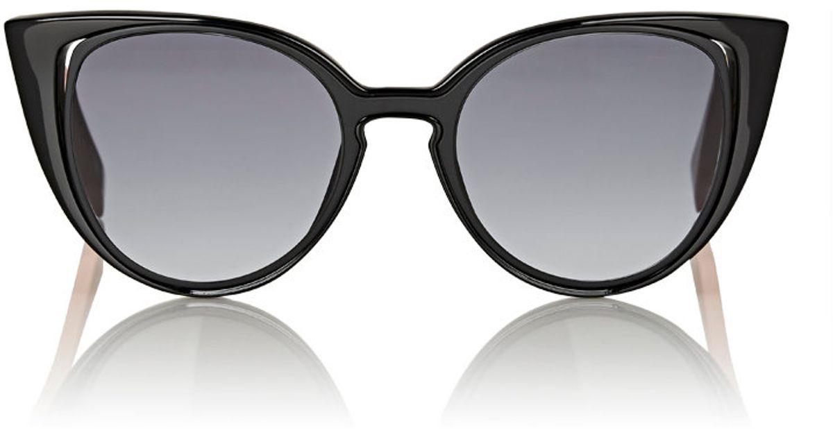 297a6aeff06 Lyst - Fendi Women s Cutout-lens Cat-eye Sunglasses