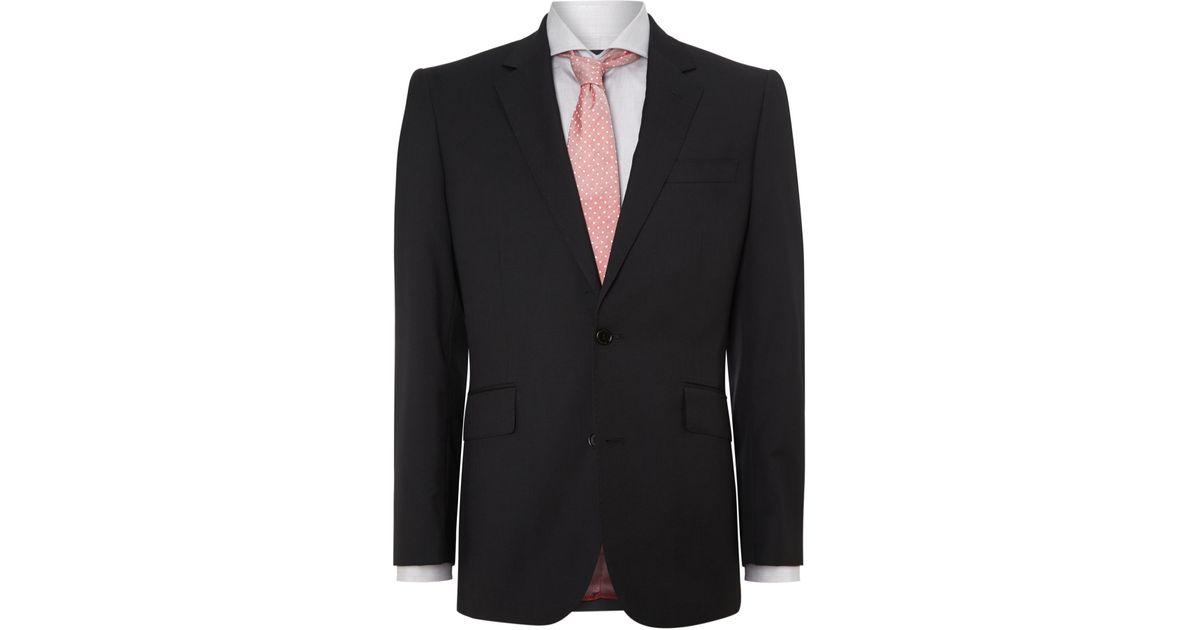 Chester barrie Fine Herringbone Suit in Black for Men   Lyst