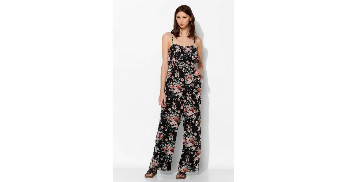 b32fc1ab205 Lyst - Pins And Needles Chiffon Ruffletop Jumpsuit
