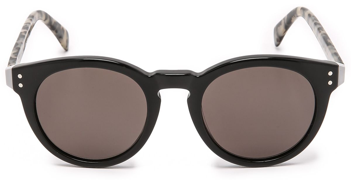 c2137856531 Lyst - Marc By Marc Jacobs Round Sunglasses - Black brown Grey in Black