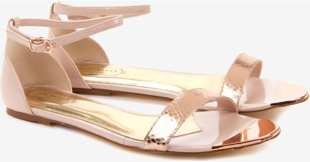 Lyst - Ted Baker Ankle Strap Sandals in Pink