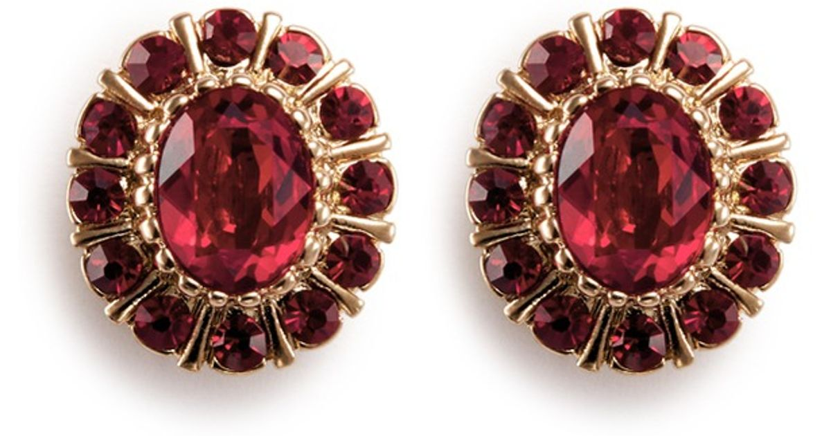 926123e3e Givenchy Swarovski Crystal Pavé Magnetic Earrings in Red - Lyst