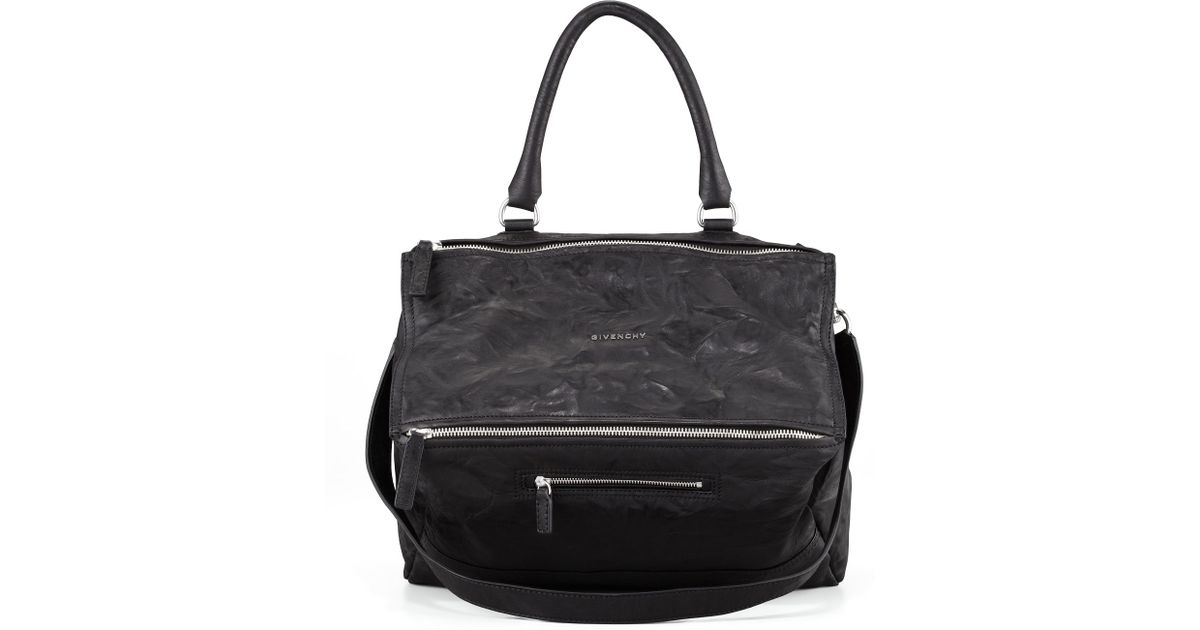 57a3d68364 Givenchy Pandora Large Leather Satchel Bag in Black - Lyst