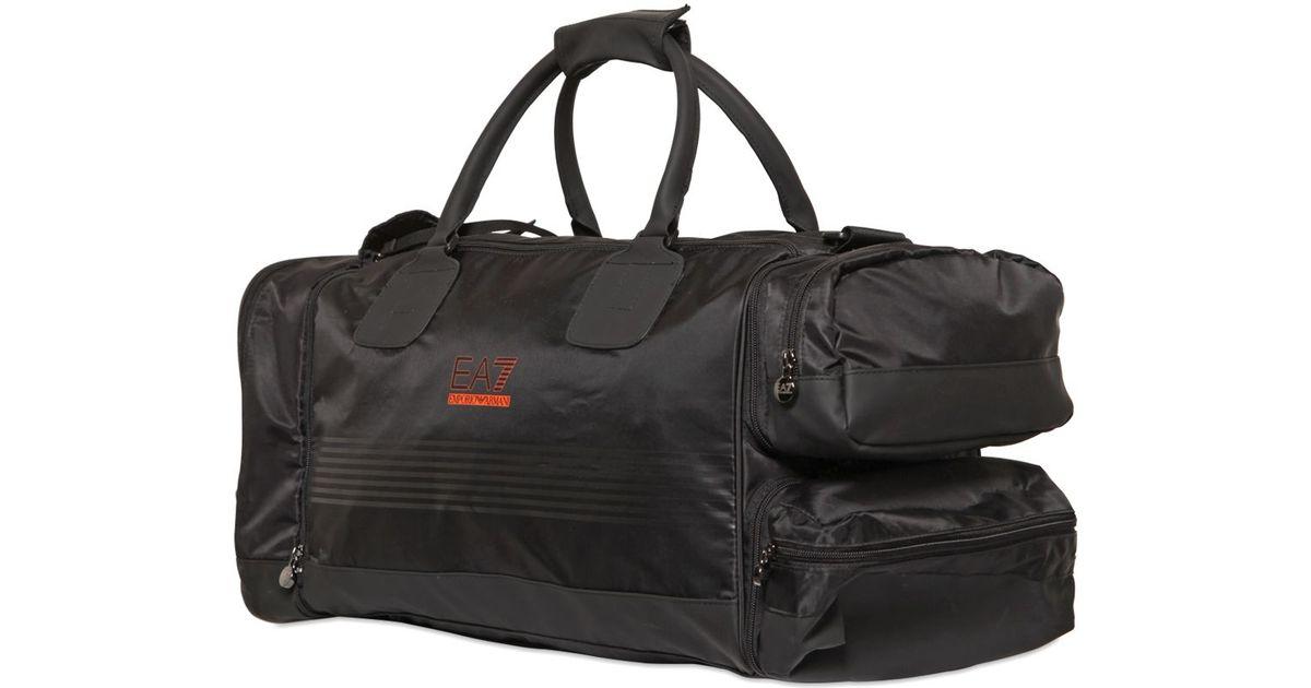 ... buy sneaker 40ca8 6881b Lyst - Emporio Armani Nylon Canvas Smart Gym  Duffle Bag in B ... 6421a3f582a5