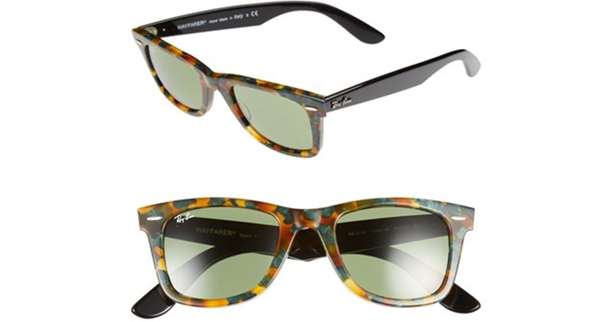 1aa621e34dd6c Lyst - Ray-Ban  classic Wayfarer  50mm Sunglasses - Spotted Green Havana   Green in Brown for Men