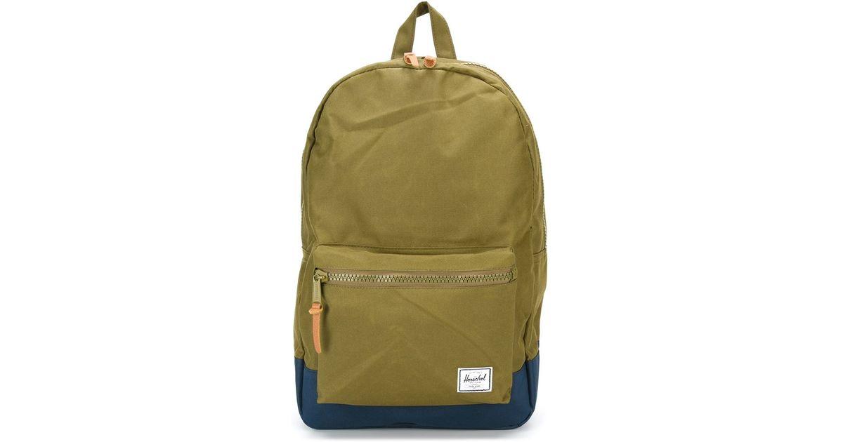 4ef601b6fe7 Herschel Supply Co.  settlement  Backpack in Green for Men - Lyst