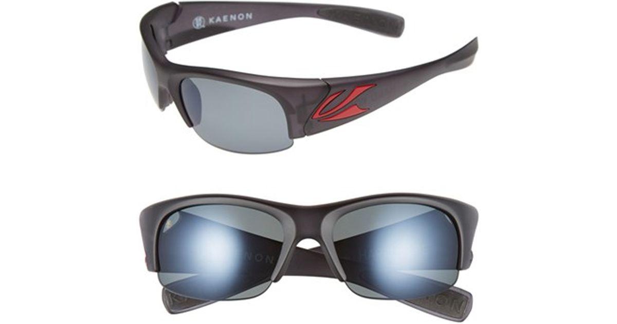 f8108a2a5e8 Lyst - Kaenon  hard Kore  63mm Polarized Sunglasses - Graphite  Red  Grey  G12 in Gray for Men