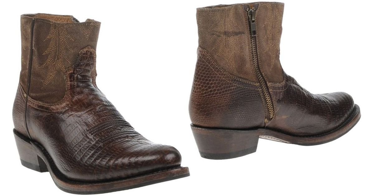 ash ankle boots in brown brown lyst