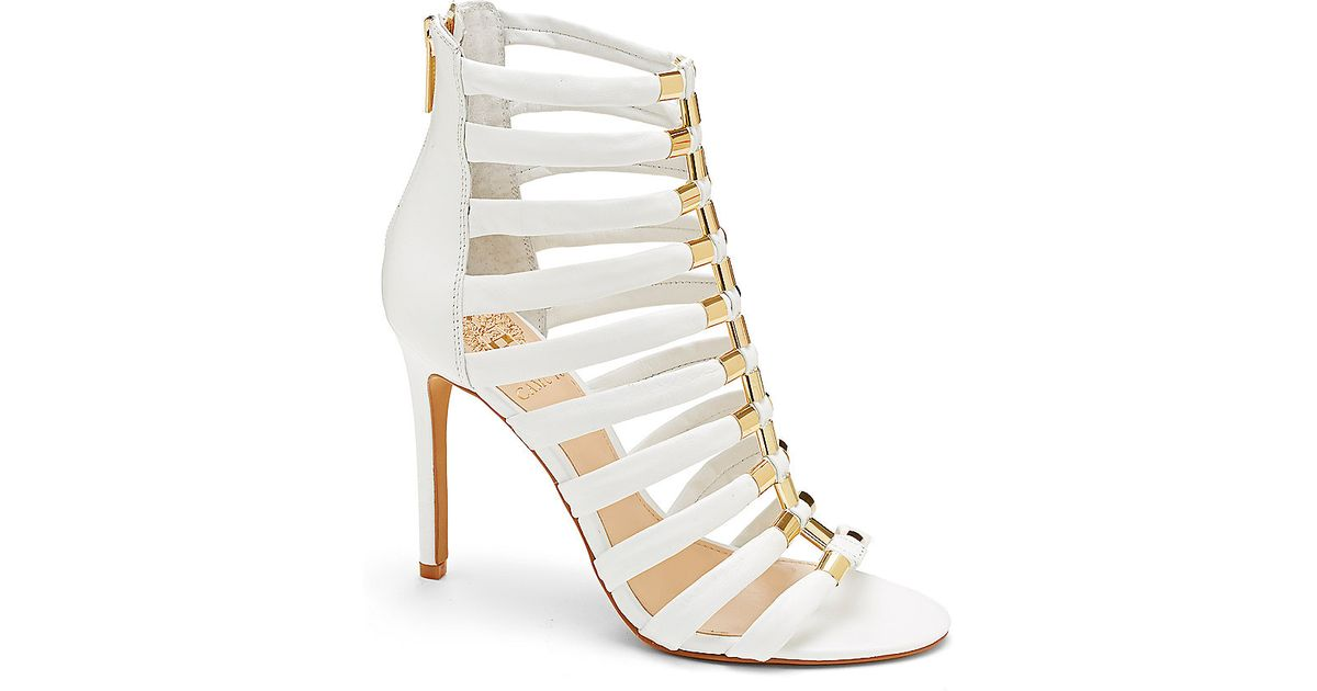 cfec09d334ca Lyst – Vince Camuto Troy – Gold Accent Gladiator High Heel Sandal in White