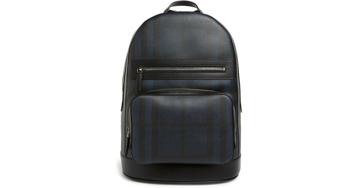 3bde101de186 Lyst - Burberry London Check Backpack in Blue for Men