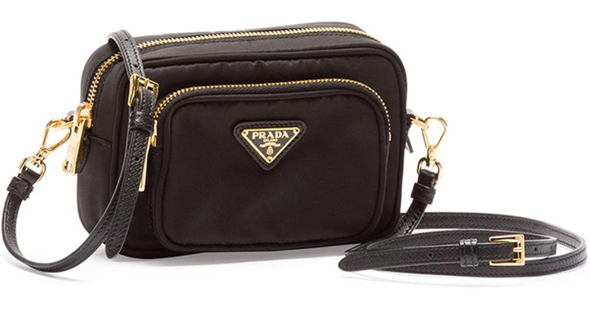 Lyst - Prada Tessuto Small Pocket Crossbody Bag in Black 07805146c688d