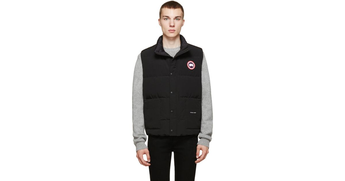 Canada Goose Black Down Freestyle Vest In Black For Men Lyst
