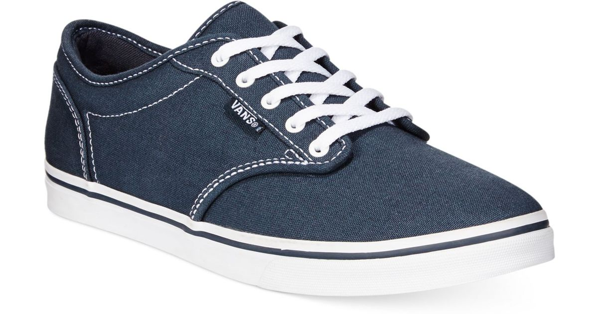 Lyst - Vans Women s Atwood Low Lace-up Sneakers in Blue 8e332441c2f7