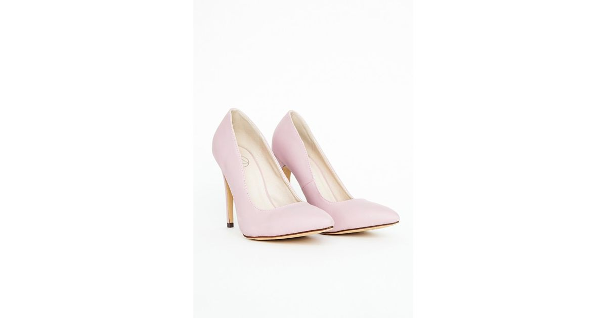 6e06b4967e9 Missguided - Natalie Court Shoes In Baby Pink - Lyst