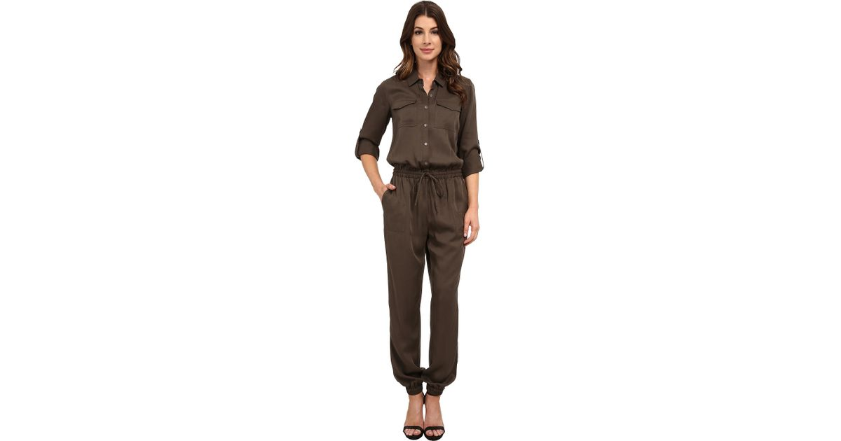 744cad2015d Lyst - Two By Vince Camuto Soft Tencel Utility Drawstring Jumpsuit in Gray