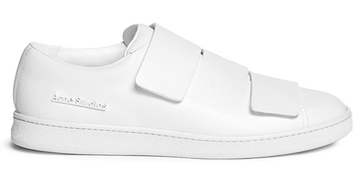 0026f801b9f1 Lyst - Acne Studios  triple Lo  Velcro Strap Leather Shoes in White for Men
