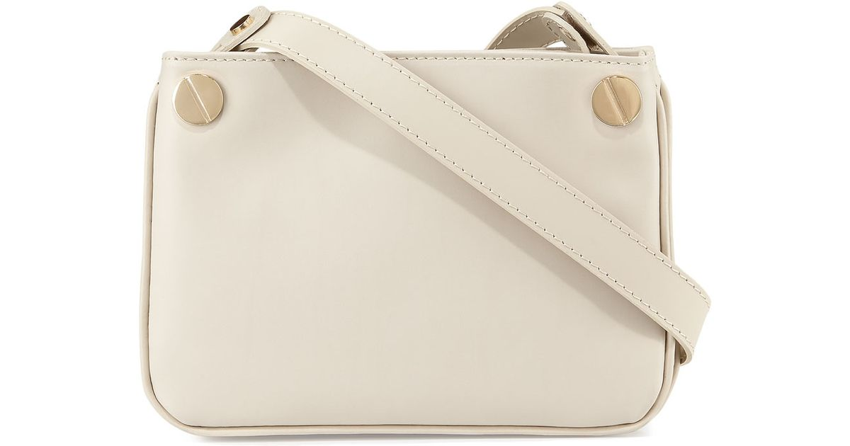 Lyst - Neiman Marcus Double-gusset Leather Crossbody Bag 76400bcdd7