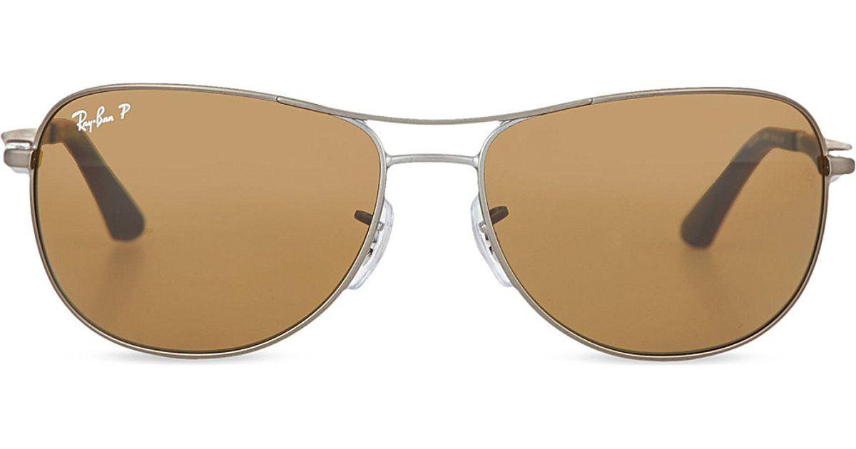 330aeda006c Ray-Ban Rb3519 Pilot Sunglasses in Metallic for Men - Lyst