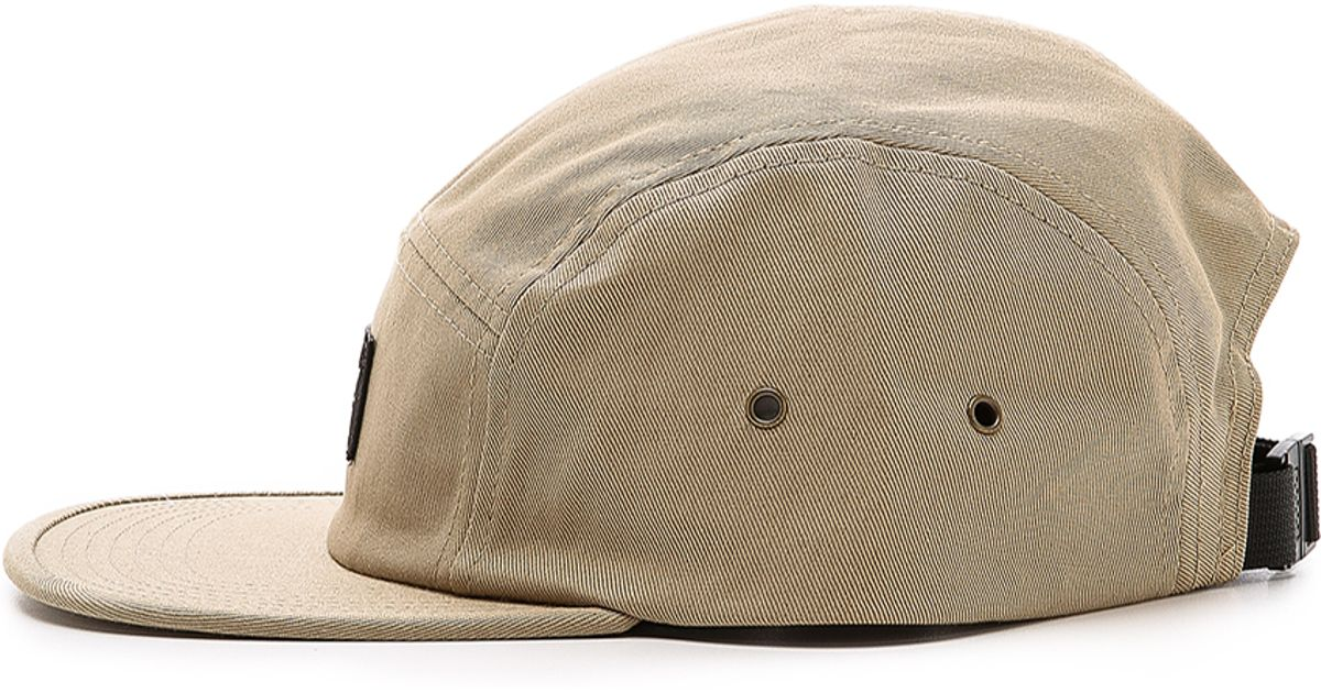 28306a3ca1e Obey Worldwide 5 Panel Hat in Natural for Men - Lyst
