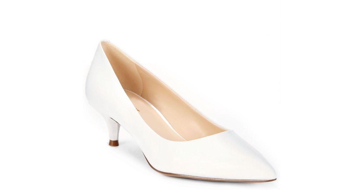 bd8a34e9af9 Lyst - Nine West Illumie Kitten Heel Pumps in White