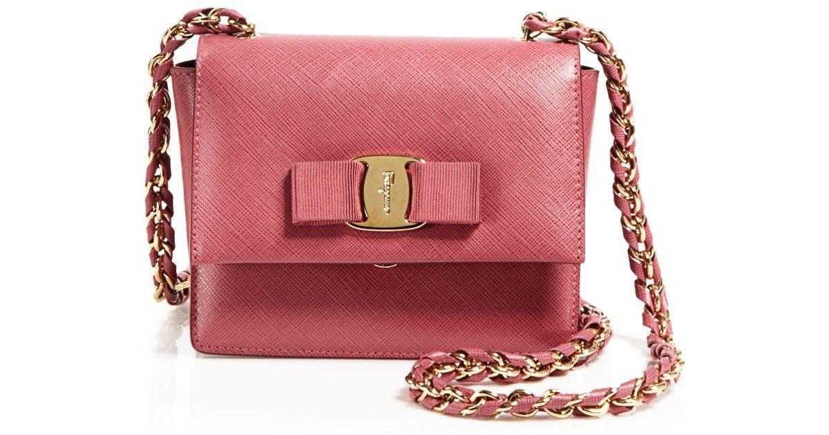 Lyst - Ferragamo Crossbody - Ginny Mini in Red 0a4196eff7bd9