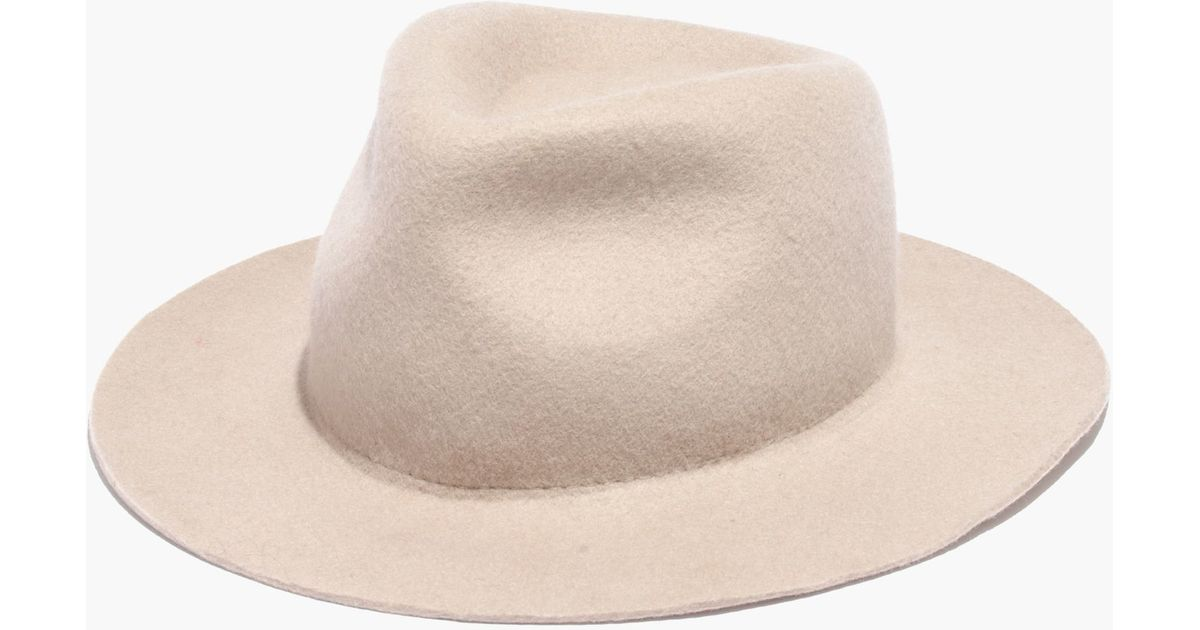 a10fa0fdd76 Madewell X Biltmore® Straight-brim Felt Fedora In Natural Ivory in Natural  - Lyst