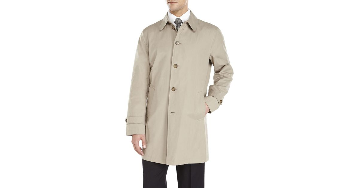 tommy hilfiger finn trench coat in brown for men tan. Black Bedroom Furniture Sets. Home Design Ideas