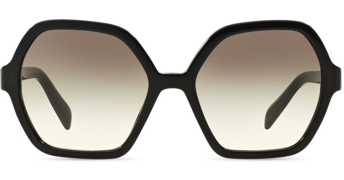 a29da6395c Lyst - Prada Oversized Octagon Sunglasses in Black