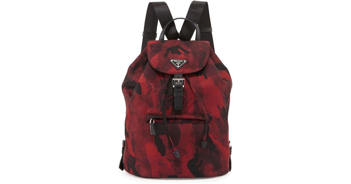prada imitation - prada backpack red