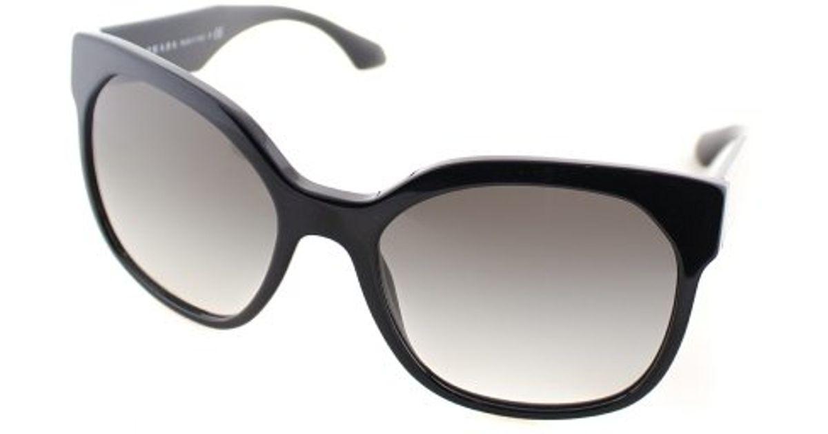 997f217460bd ... 50% off lyst prada voice pr 10rs tkf0a7 black and white fashion plastic  sunglasses in