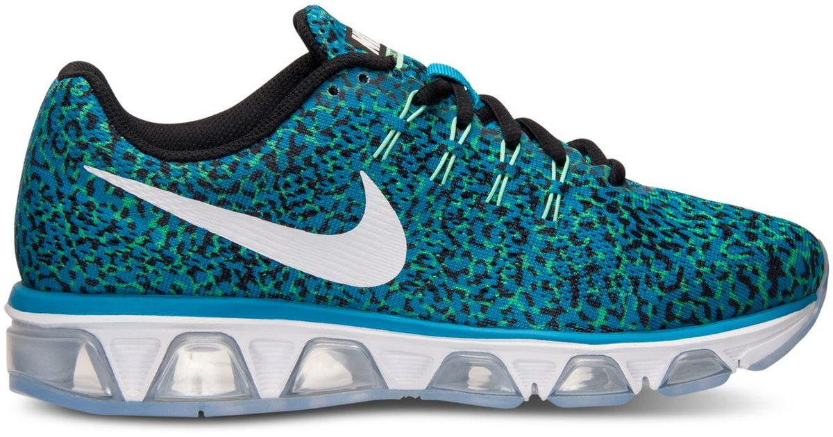 premium selection eeb65 08352 Nike Women's Air Max Tailwind 8 Print Running Sneakers From Finish Line in  Blue - Lyst
