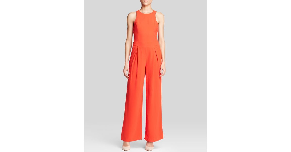 16b4ab834597 Lyst - Trina Turk Jumpsuit - Clarity Wide Leg in Orange