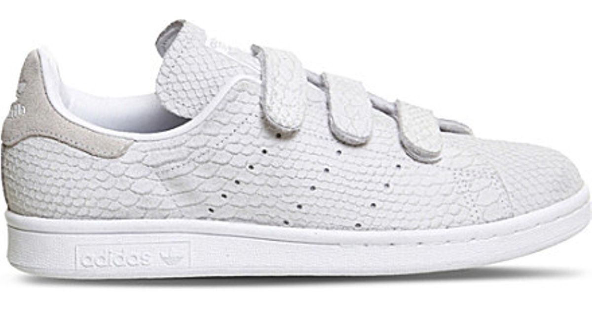 Lyst - adidas Originals Stan Smith Cf Low-top Leather Trainers in White f4415e016