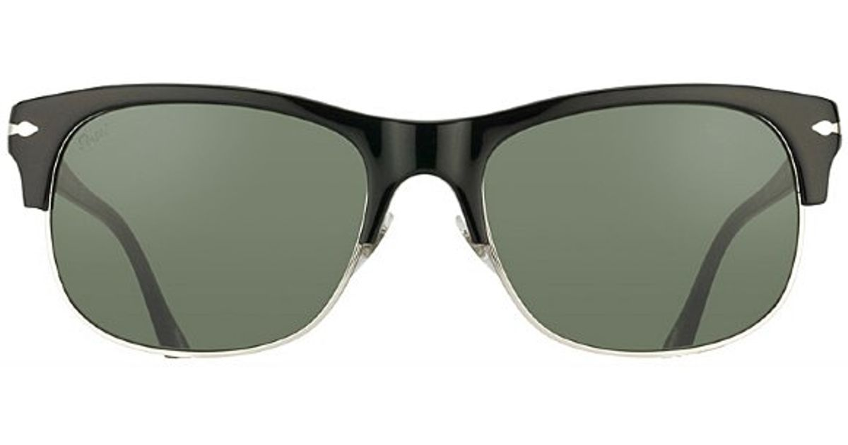 db78f05d0c Persol Po 3034s 95 31 Black Clubmaster Sunglasses Grey Lens in Black for Men  - Lyst