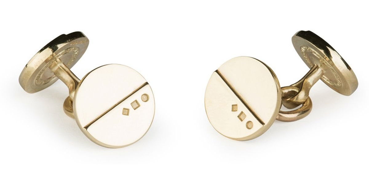 Alice Made This Orde Solid Gold Cufflinks In Multicolour
