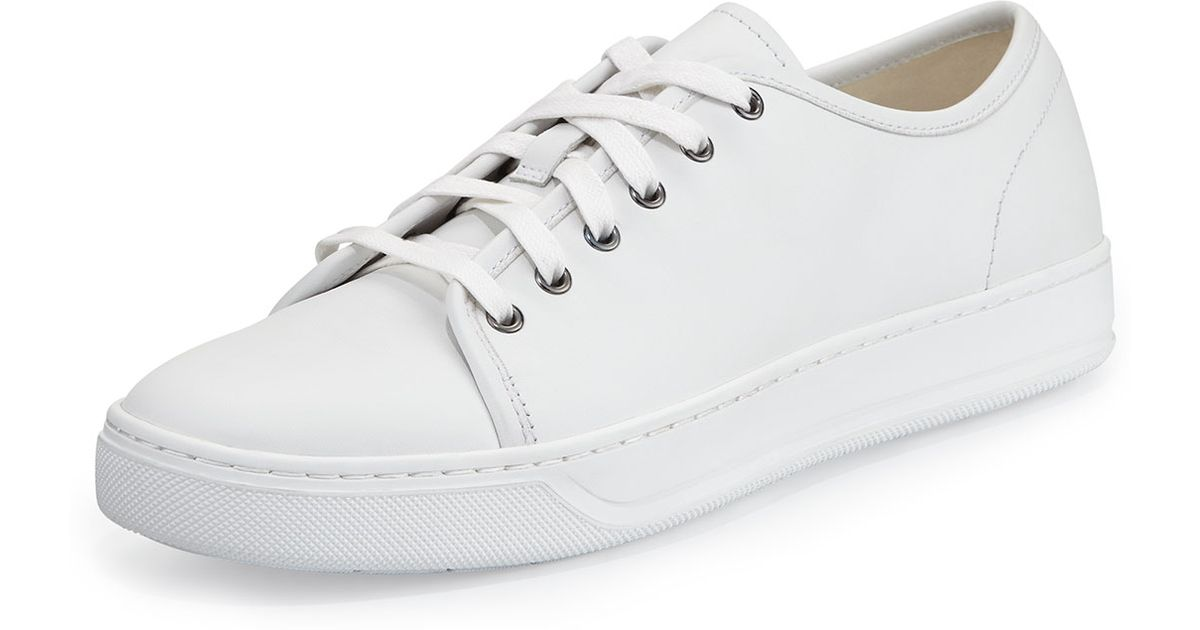 a0d5f2bee78a Lyst - Vince Low-Top Calf Leather Sneaker in White