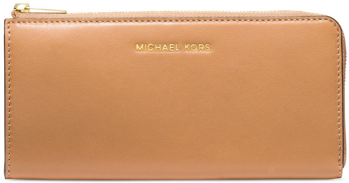 Michael Kors Tassen Gold : Michael kors colby large three quarter zip around