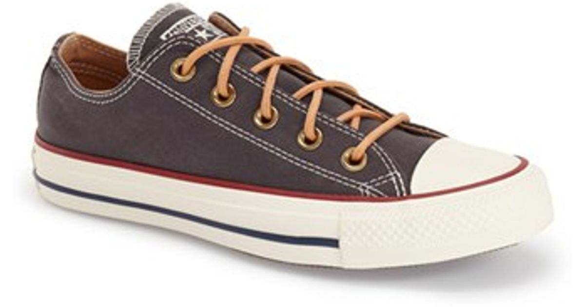 32b99860df3e Lyst - Converse Chuck Taylor All Star  peached - Ox  Low Top Sneaker in  Black