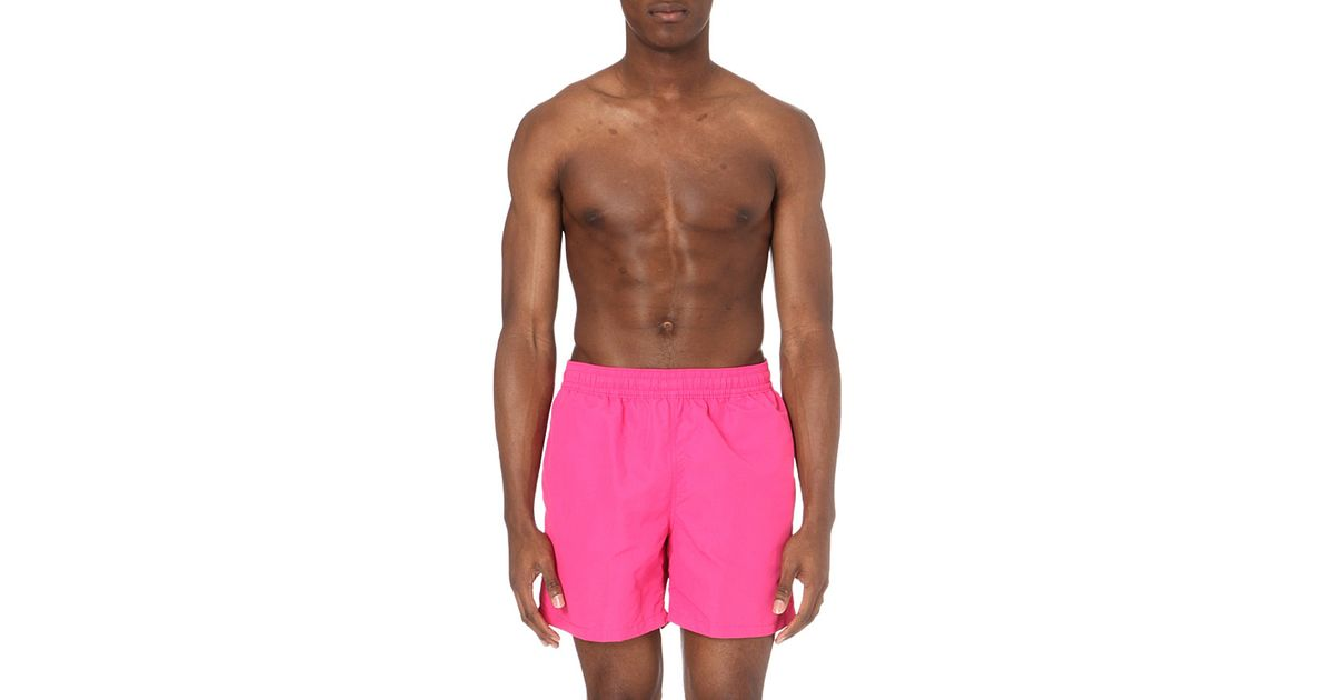 pink pony hawaiian swim shorts in pink for men grand prix pink lyst. Black Bedroom Furniture Sets. Home Design Ideas